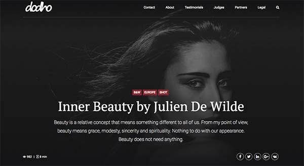 Julien De Wilde Photographer Interview in Dodho magazine Best Photographer 2018