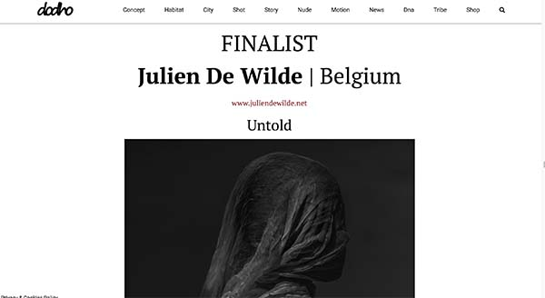 Julien De Wilde Photographer Dodho magazine The Best Black and White Photographer 2018
