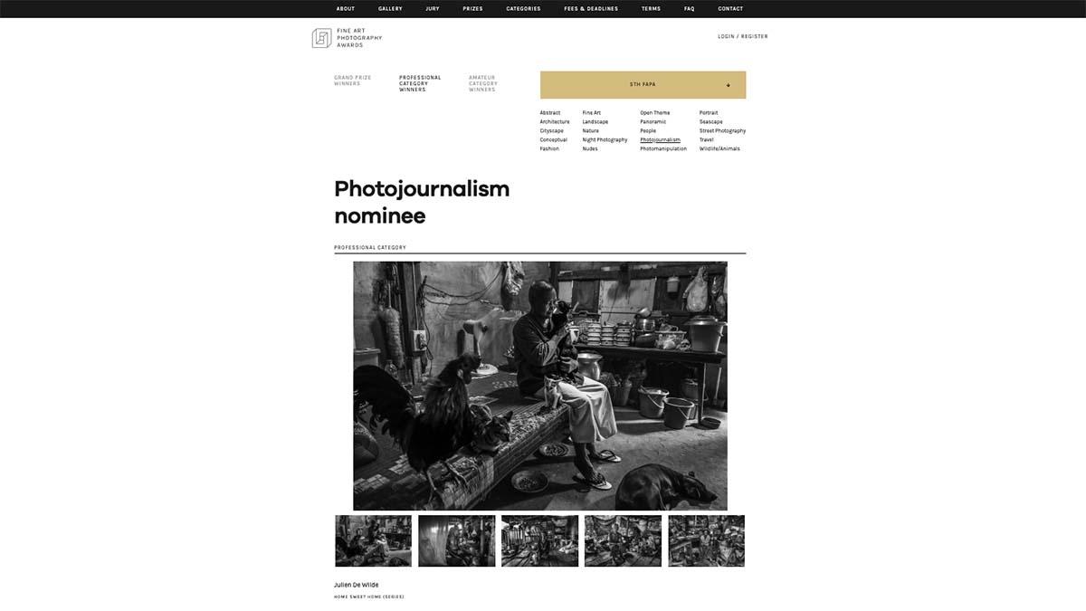 Julien De Wilde Photographer FAPA Fine Art Photography Awards