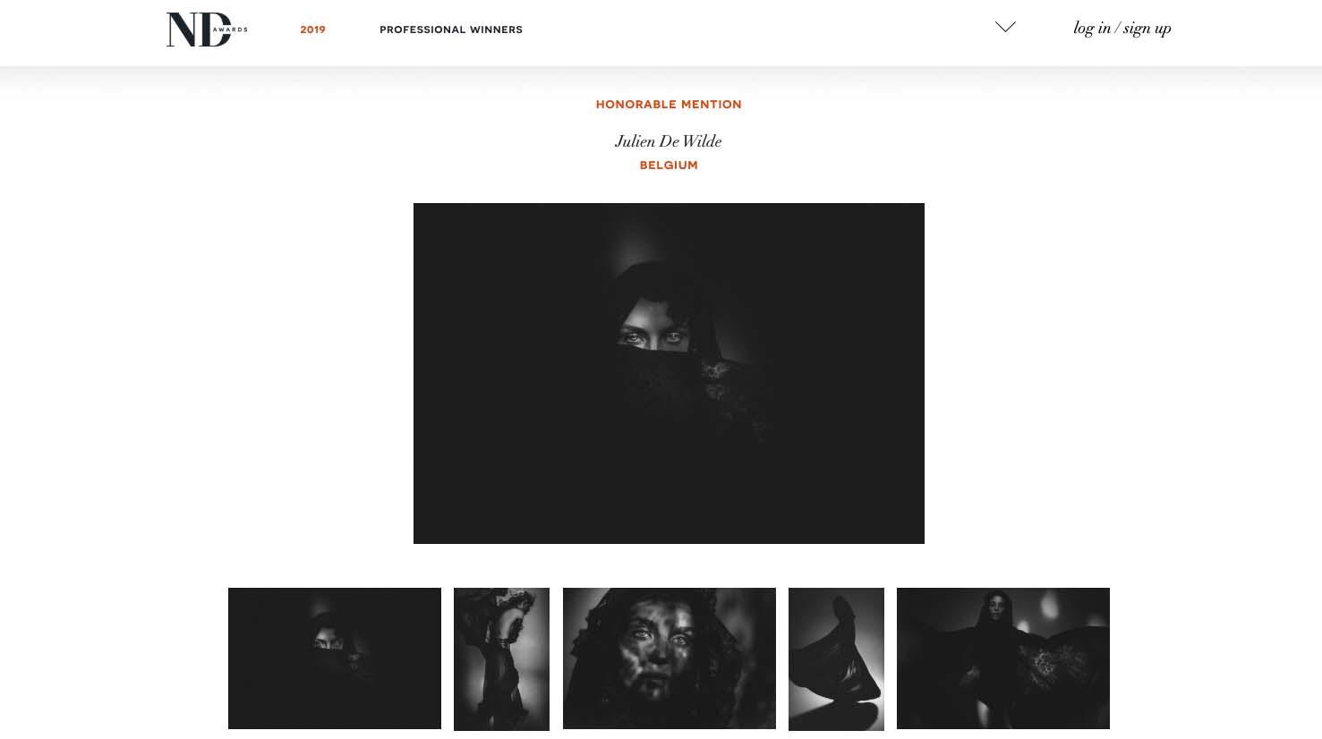 Julien De Wilde Photographer ND AWARDS 2019