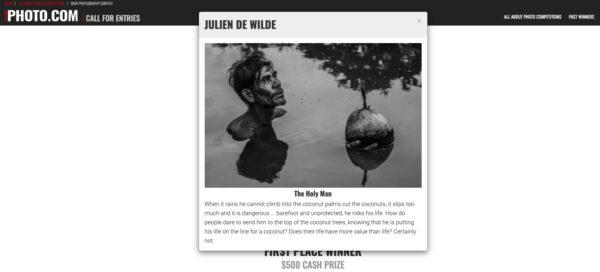 Julien De Wilde AAP BW Winner 2020